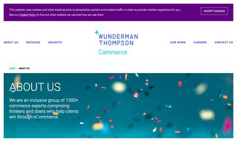 Screenshot of About Page wundermanthompsoncommerce.com - About Us | Ecommerce Consultants & Digital Experts - Wunderman Thompson Commerce - captured March 9, 2019