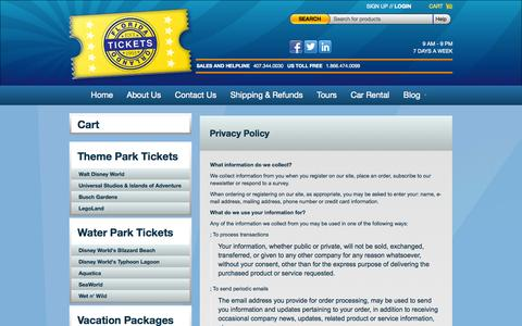 Screenshot of Privacy Page floridaorlandotickets.net - Privacy Policy | Florida Orlando Tickets - captured Sept. 30, 2014
