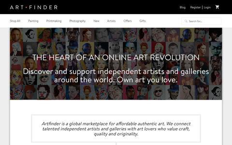 Screenshot of About Page artfinder.com - About | Artfinder - captured Oct. 27, 2015