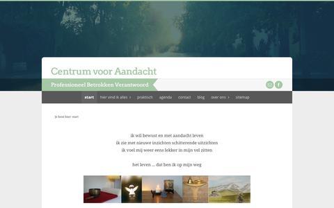 Screenshot of Home Page aandachtswegen.nl - start Centrum voor Aandacht - captured Jan. 23, 2015