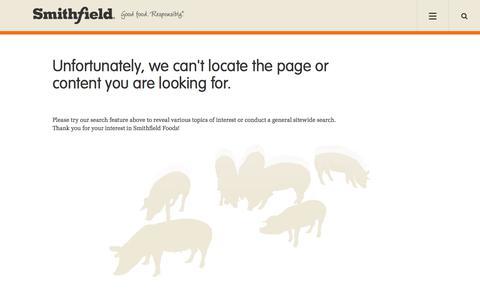 Not Found | Smithfield Foods, Inc. Meat Products | Smithfield Foods Company USA