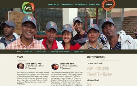 Screenshot of Team Page pivotworks.org - Pivot | Staff - captured June 17, 2016