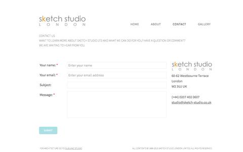Screenshot of Contact Page sketch-studio.co.uk - Drawing and sketching for Architects - captured March 5, 2016