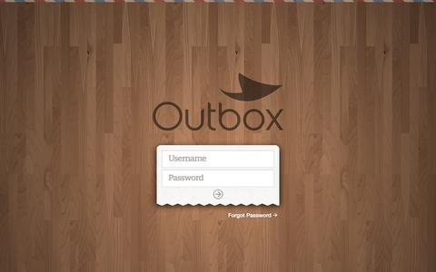 Screenshot of Login Page outboxmail.com - Outbox - captured Sept. 17, 2014