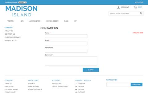 Screenshot of Contact Page romanmonarch.com - Contact Us - captured Nov. 4, 2014
