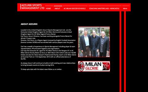 Screenshot of About Page azzurri-sportsmanagement.com - About Azzurri Sports Management Limited - captured Nov. 21, 2016