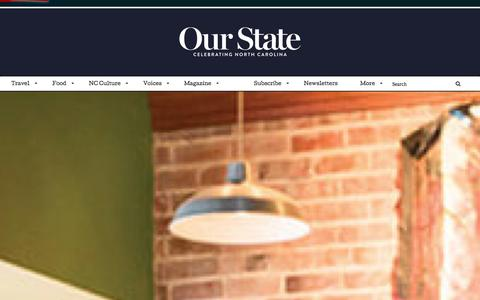 Screenshot of Home Page ourstate.com - Our State Magazine | Celebrating North Carolina - captured Jan. 22, 2016