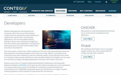 Screenshot of Developers Page contegix.com - Developers - Contegix - captured Oct. 7, 2017