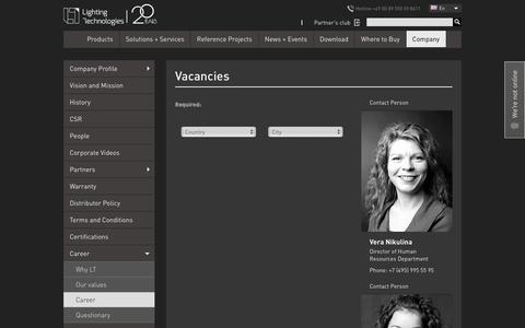 Screenshot of Jobs Page ltcompany.com - Company Profile - captured Sept. 25, 2018