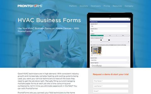 HVAC Business Forms | ProntoForms