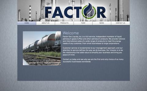 Screenshot of Contact Page factorgas.com - Factor Gas - captured Sept. 25, 2015