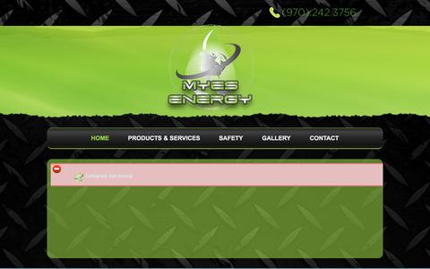 Screenshot of About Page myesenergy.com - Myes Energy - captured Sept. 26, 2014