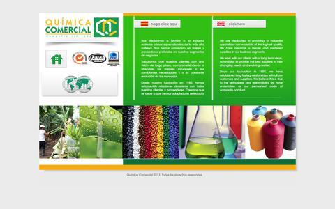 Screenshot of Home Page quimicacomercial.com - Química Comercial - captured Oct. 3, 2014