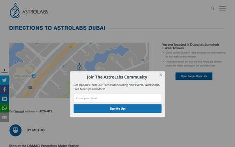 Screenshot of Maps & Directions Page astrolabs.com - Get Directions To AstroLabs - captured Nov. 21, 2017