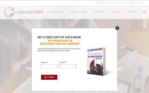 Screenshot of Locations Page languagecorps.com - Teach English Overseas   Get TEFL Certified Overseas   LanguageCorps.com - captured Nov. 4, 2018