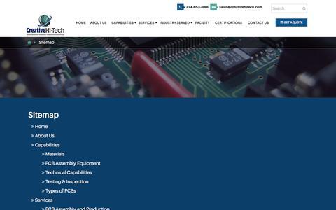 Screenshot of Site Map Page creativehitech.com - Sitemap - Creative Hi-Tech Ltd. (CHTL) - captured July 17, 2016