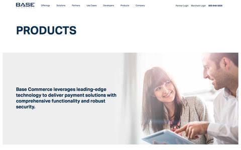 Screenshot of Products Page basecommerce.com - Base Commerce - captured April 19, 2018