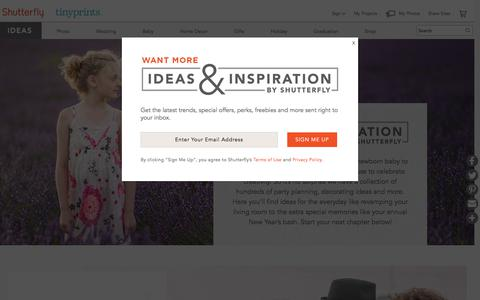 Ideas and Inspiration For Every Occasion | Shutterfly