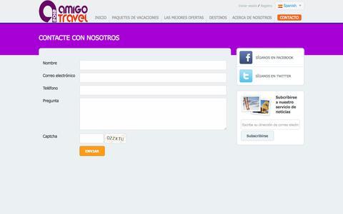 Screenshot of Contact Page amigotravel2012.com captured Nov. 2, 2014