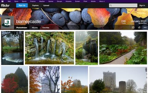 Screenshot of Flickr Page flickr.com - Flickr: blarneycastle's Photostream - captured Oct. 25, 2014