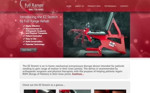 Screenshot of Home Page fullrangerehab.com - Welcome! | Full Range Rehab - captured Sept. 30, 2014