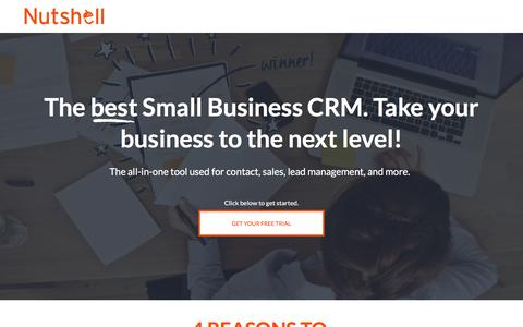Screenshot of Landing Page nutshell.com - Nutshell | Small business CRM software for B2B sales teams - captured Aug. 31, 2017