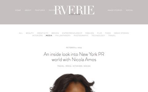 Screenshot of Press Page rverie.com - Interviews | Rverie.com — Rverie - captured Feb. 9, 2016