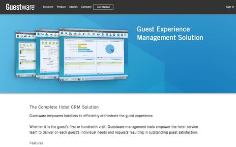 Guest Experience Management Solutions - CRM Software for the Hotel Industry