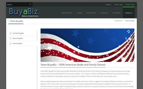 Screenshot of Team Page buyabiz.com - Team BuyaBiz - captured Sept. 23, 2014