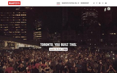 Screenshot of Home Page mnfsto.com - Manifesto - captured Nov. 12, 2018