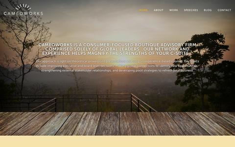 Screenshot of Home Page cameoworks.com - CameoWorks - captured Oct. 1, 2014
