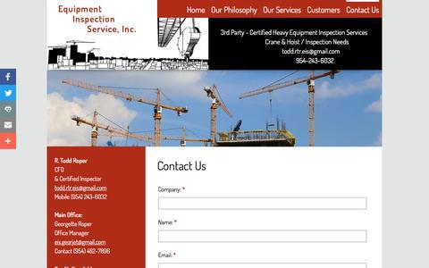 Screenshot of Contact Page eis-us.com - Contact Us - captured Nov. 13, 2016
