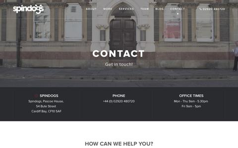 Screenshot of Contact Page spindogs.co.uk - Contact Us | Spindogs - captured Jan. 13, 2016