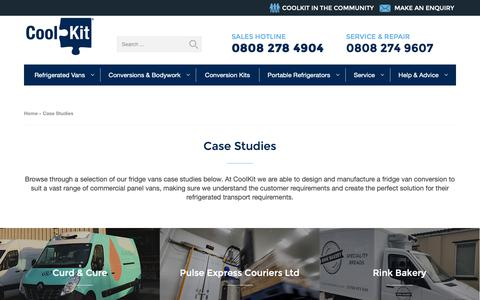 Screenshot of Case Studies Page coolkit.co.uk - Case Studies Archive - Coolkit - captured Oct. 21, 2018
