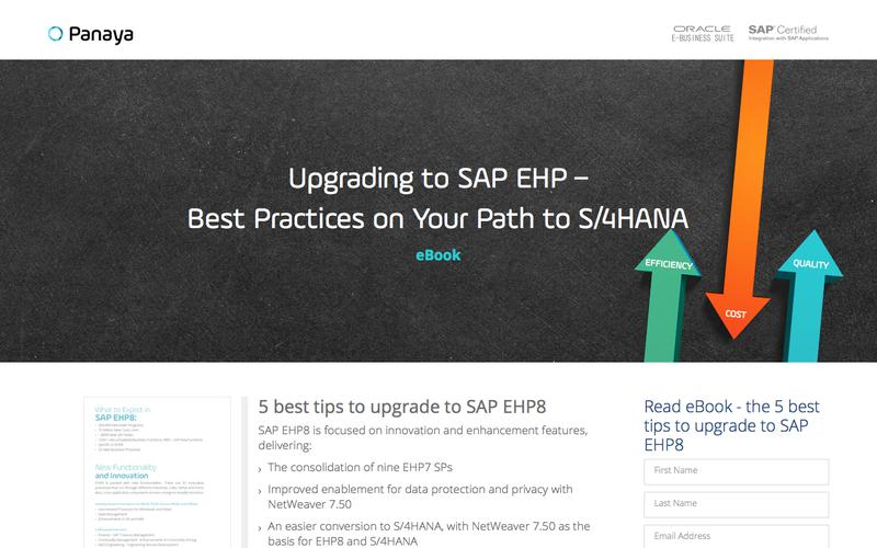 Upgrading to SAP EHP 8: Best Practices in the Path to Innovation - Panaya