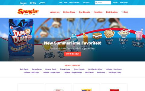 Screenshot of Home Page spanglercandy.com - Online Candy Store | Spangler Candy - captured June 15, 2017