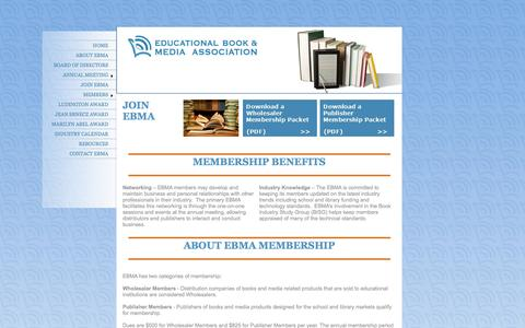Screenshot of Signup Page edupaperback.org - EBMA - JOIN EBMA - captured Oct. 2, 2014