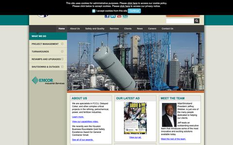 Screenshot of Home Page altairstrickland.com - Industrial Engineering Company :: AltairStrickland - captured Nov. 6, 2018