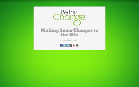 Screenshot of Home Page beth3change.com - BE TH3 CHANGE | Look Good, Do Better... - captured Sept. 30, 2014