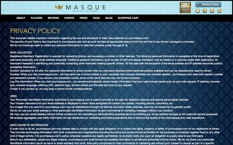 Screenshot of Privacy Page yourmasque.com - Privacy Policy   Your Masque - captured Nov. 3, 2014