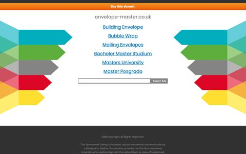 Screenshot of Home Page envelope-master.co.uk - envelope-master.co.uk - captured Sept. 28, 2018