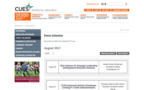 Event Calendar | CUES
