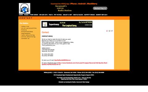 Screenshot of Contact Page wrhq.com - Contact   Main - captured Nov. 5, 2014
