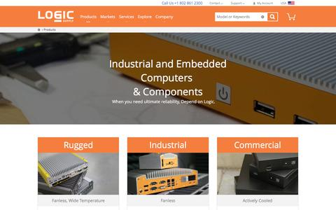 Screenshot of Products Page logicsupply.com - Industrial and Embedded Computers & Components  | Logic Supply - captured Feb. 17, 2017