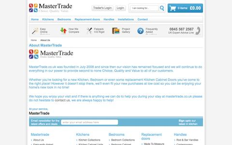 Screenshot of About Page mastertrade.co.uk - About  Us - captured Oct. 27, 2014