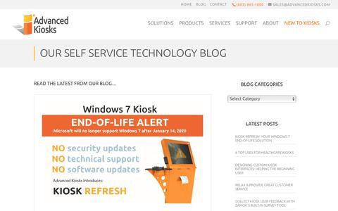 Screenshot of Blog advancedkiosks.com - Blog - Advanced Kiosks - captured Nov. 7, 2019