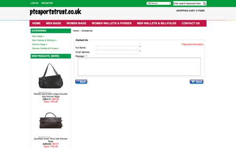 Screenshot of Contact Page ptcsportstrust.co.uk - Contact Us : Authentic Men Bags Lowest Price, Clearance Women Bags Online Shopping Sites - captured Oct. 17, 2016