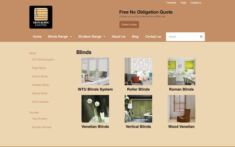 Screenshot of Products Page siestablinds.com - Blinds   Siesta Blinds - captured June 18, 2017