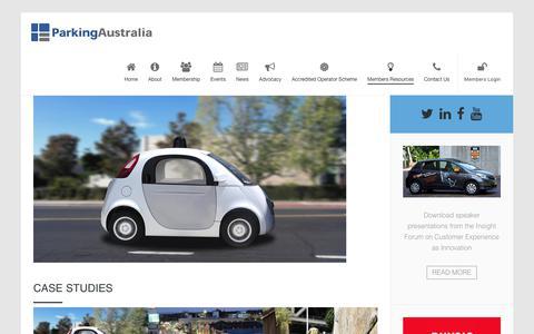 Screenshot of Case Studies Page parking.asn.au - Case Studies » Parking Australia - captured July 14, 2017