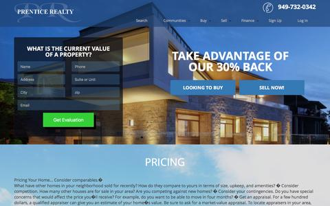 Screenshot of Pricing Page prentice-realty.com - Pricing - captured July 15, 2016